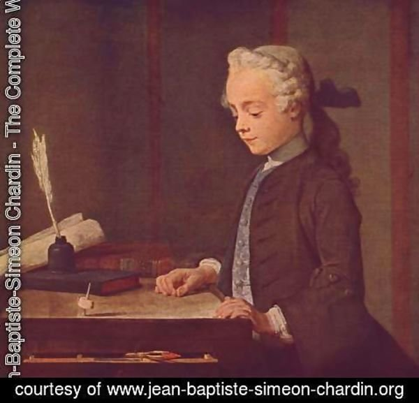 Jean-Baptiste-Simeon Chardin - Boy with a Spinning Top (Auguste Gabriel Godefroy)