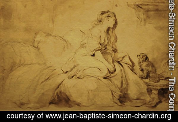 Jean-Baptiste-Simeon Chardin - Oh! If he were only as faithful to me