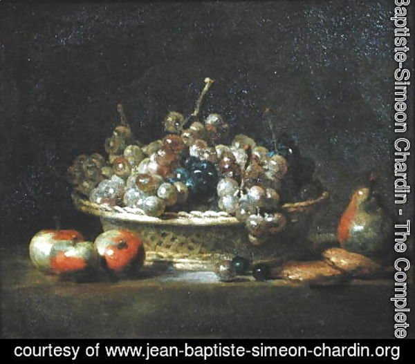 Jean-Baptiste-Simeon Chardin - Basket of Grapes, 1765