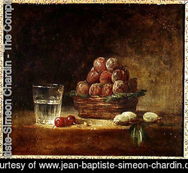 Jean-Baptiste-Simeon Chardin - Still Life of Fruit and a Glass, 1759