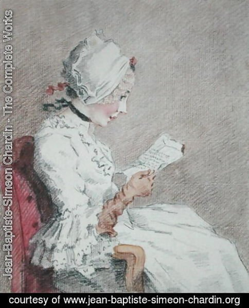 Jean-Baptiste-Simeon Chardin - Portrait of Suzanne, a young peasant from Marly-le-Roi