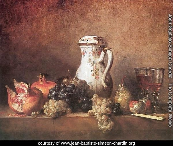 Still Life with Grapes and Pomegranates, 1763