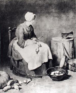 La Ratisseuse (Woman Paring Turnips), 1738