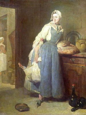 Jean-Baptiste-Simeon Chardin - The Kitchen Maid with Provisions, 1739