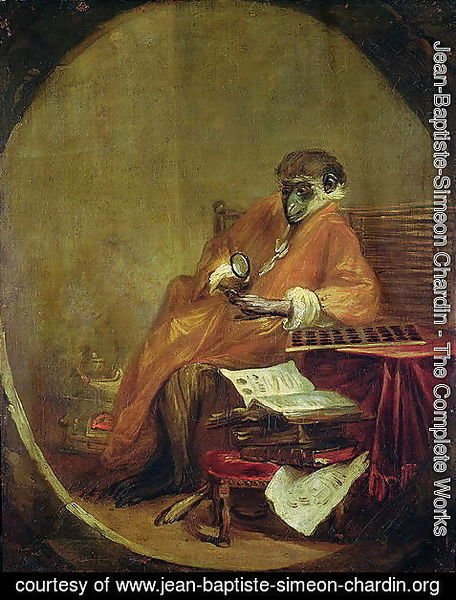 Jean-Baptiste-Simeon Chardin - The Monkey Antiquarian, 1740