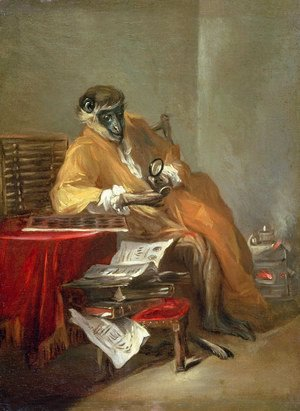 Jean-Baptiste-Simeon Chardin - The Monkey Antiquarian