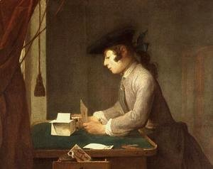 Jean-Baptiste-Simeon Chardin - The House of Cards