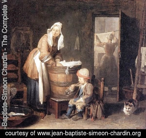 Jean-Baptiste-Simeon Chardin - The Laundry Woman 2