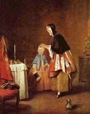 Jean-Baptiste-Simeon Chardin - The Morning Toilet