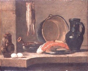 Jean-Baptiste-Simeon Chardin - Still Life of Kitchen Utensils
