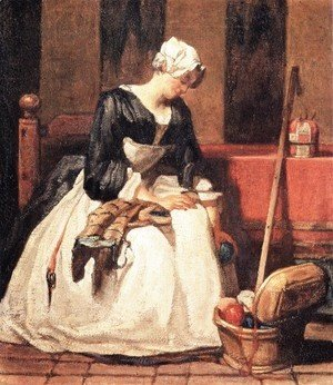 Jean-Baptiste-Simeon Chardin - The Embroiderer, c.1773