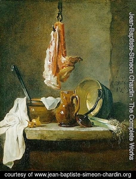 Jean-Baptiste-Simeon Chardin - Still Life with a Rib of Beef, 1739