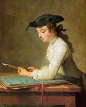 Jean-Baptiste-Simeon Chardin - The Young Draughtsman, 1737