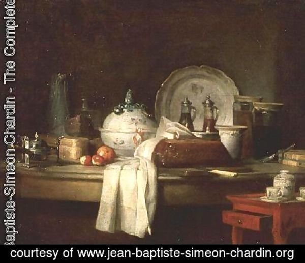Jean-Baptiste-Simeon Chardin - The Officers' Mess or The Remains of a Lunch, 1763