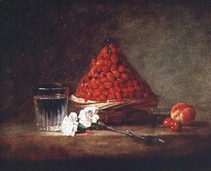 Jean-Baptiste-Simeon Chardin - Basket with Wild Strawberries, c.1761
