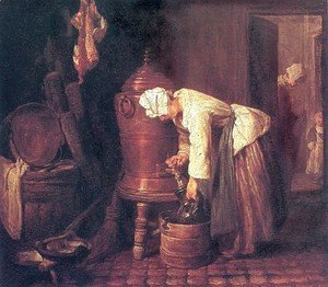 Jean-Baptiste-Simeon Chardin - Woman Drawing Water from a Copper Cistern