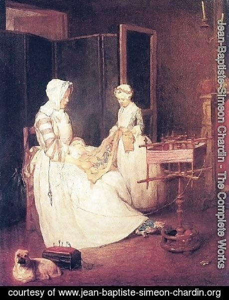 Jean-Baptiste-Simeon Chardin - The Laborious Mother, c.1740