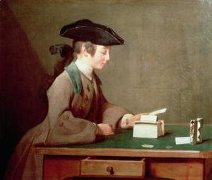Jean-Baptiste-Simeon Chardin - The House of Cards, c.1736-37
