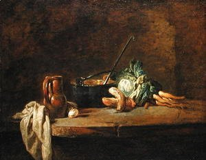 Jean-Baptiste-Simeon Chardin - Still life of Vegetables for the Soup, c.1732