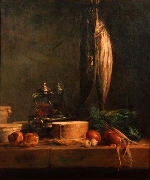 Jean-Baptiste-Simeon Chardin - Still Life with Fish