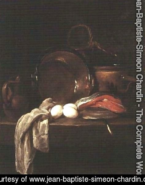 Jean-Baptiste-Simeon Chardin - Still Life: The Kitchen Table, c.1755-56