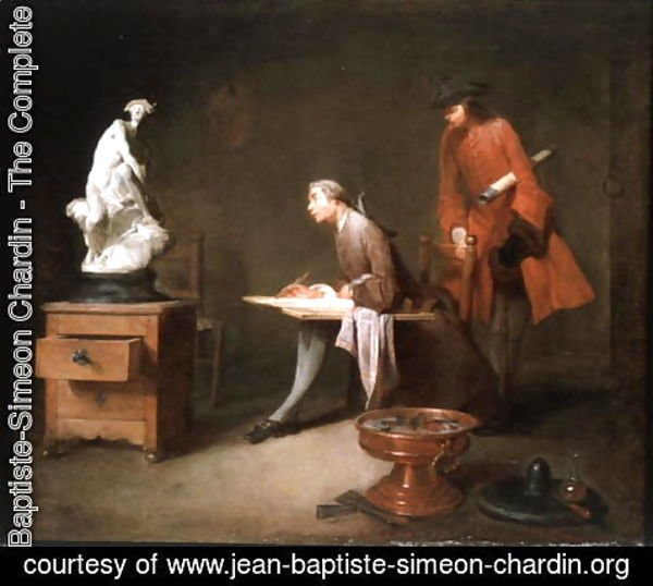 Jean-Baptiste-Simeon Chardin - The Drawing Lesson