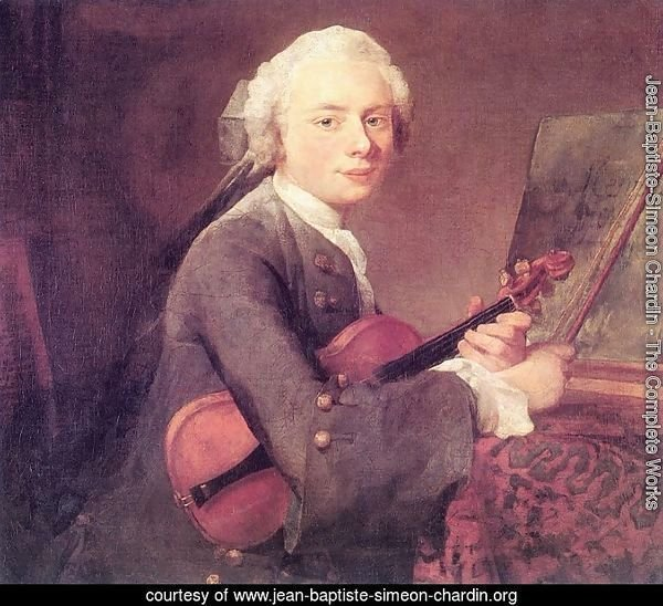 Young Man with a Violin, or Portrait of Charles Theodose Godefroy (1718-96) c.1738