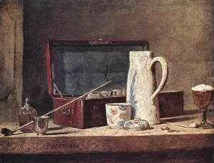 Jean-Baptiste-Simeon Chardin - Still Life of Pipes and a Drinking Glass