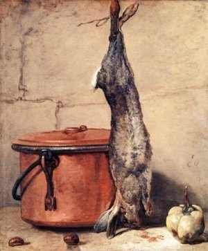 Jean-Baptiste-Simeon Chardin - Rabbit and Copper Pot c.1739-40