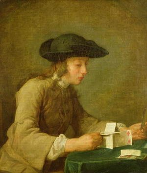 Jean-Baptiste-Simeon Chardin - The House of Cards 2