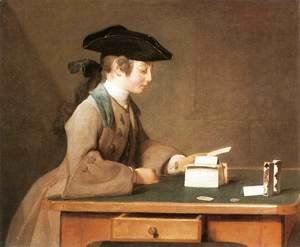 Jean-Baptiste-Simeon Chardin - The House of Cards III
