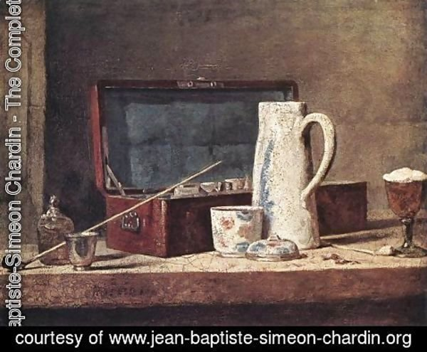Jean-Baptiste-Simeon Chardin - Still-Life with Pipe and Jug