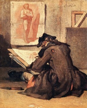Jean-Baptiste-Simeon Chardin - The Student Drawing