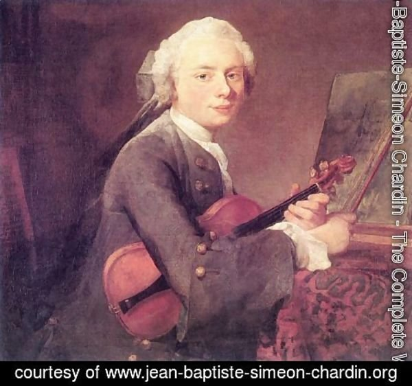 Jean-Baptiste-Simeon Chardin - Young Man with a Violin (Charles Godefroy)
