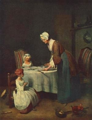 Jean-Baptiste-Simeon Chardin - Prayer before the Meal