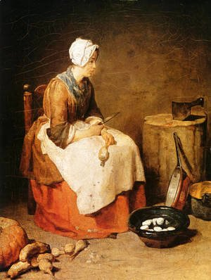 Jean-Baptiste-Simeon Chardin - The Kitchen Maid