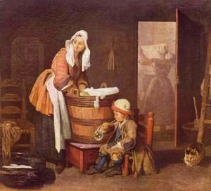 Jean-Baptiste-Simeon Chardin - The Laundress