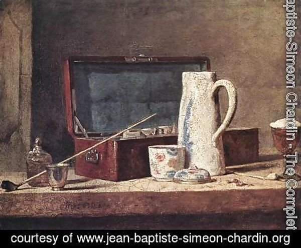 Jean-Baptiste-Simeon Chardin - Still-Life with Pipe an Jug