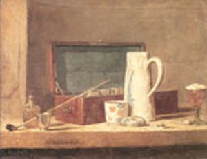 Jean-Baptiste-Simeon Chardin - The Smokers Case 1737