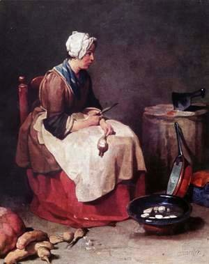 Jean-Baptiste-Simeon Chardin - The turnip cleaner