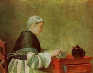 Jean-Baptiste-Simeon Chardin - The tea drinker