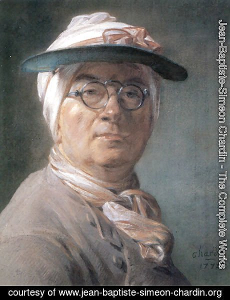 Jean-Baptiste-Simeon Chardin - Self-portrait with glasses