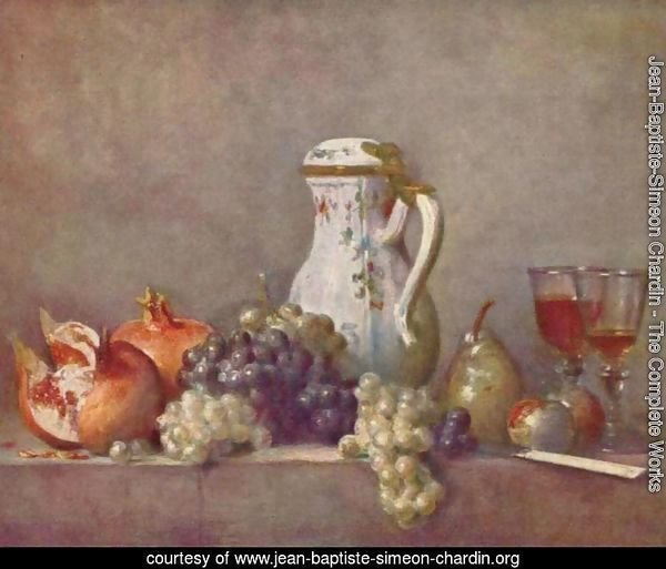Still life with porcelainpot