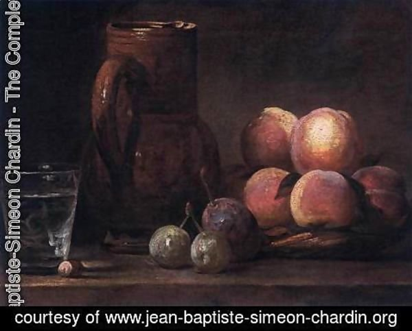 Jean-Baptiste-Simeon Chardin - Fruit, Jug, and a Glass