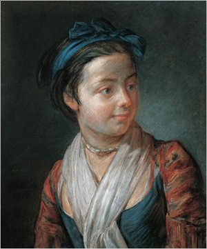 Jean-Baptiste-Simeon Chardin - Portrait of a Young Girl