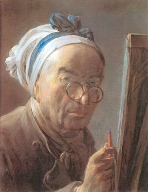 Jean-Baptiste-Simeon Chardin - Self-Portrait with an Easel