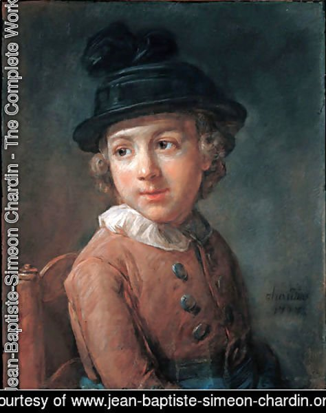 Jean-Baptiste-Simeon Chardin - Portrait of a child