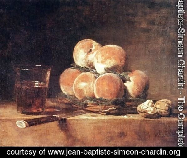 Jean-Baptiste-Simeon Chardin - A Basket Of Peaches