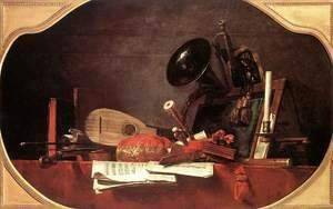 Jean-Baptiste-Simeon Chardin - Attributes of Music 1765