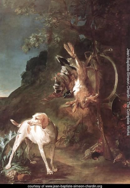 Game Still-Life with Hunting Dog c. 1730